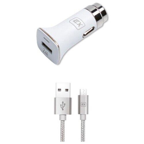 Фото - Зарядное устройство Exployd Sonder 1xUSB 2.4A QC3.0 + кабель MicroUSB White EX-Z-629 зарядное устройство exployd sonder 1xusb 2 4a qc3 0 кабель type c white ex z 633