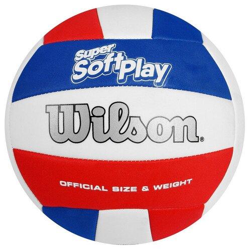 Волейбольный мяч Wilson Super Soft Play белый/красный/синий
