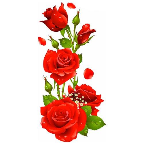 Наклейка Woozzee Букет роз