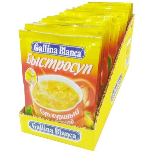 Gallina Blanca Быстросуп Суп куриный с лапшой, 24 порц. knorr чашка супа куриный суп с лапшой 13 г