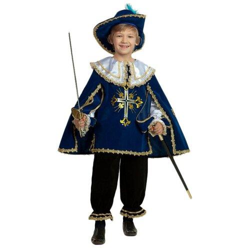 Фото - Костюм Батик Мушкетер (401-1/401-2), синий, размер 146 костюм батик леший 6074 коричневый размер 146