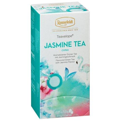 Чай зеленый Ronnefeldt Teavelope Jasmine в пакетиках, 25 шт. чай зеленый ronnefeldt teavelope classic green в пакетиках 25 шт