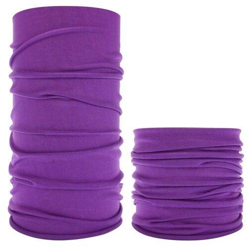 Шарф-маска (бафф, балаклава, снуд), Евробандана, фиолетовый