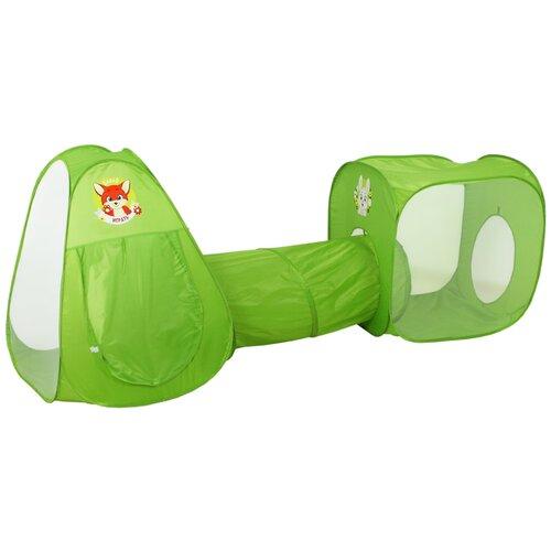 Палатка Школа талантов Давай играть комплекс из 2 палаток и туннеля 3147569, зеленый