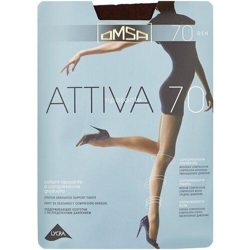 Колготки Omsa Attiva, 70 den, размер 5-XL, marrone (коричневый) колготки omsa attiva 20 den размер 2 s marrone коричневый