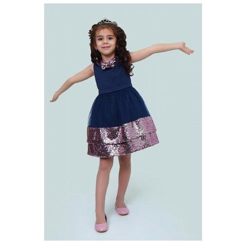 Фото - Платье Ladetto размер 30(2)-122, темно-синий платье mayoral размер 7 122 темно синий