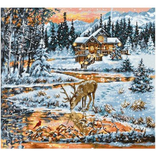 Фото - Набор для вышивания крестом Luca-S Хижина в лесу, 43,5x40 см, арт. BU4022 bu4022 набор для вышивания хижина в лесу 43 5 40см luca s