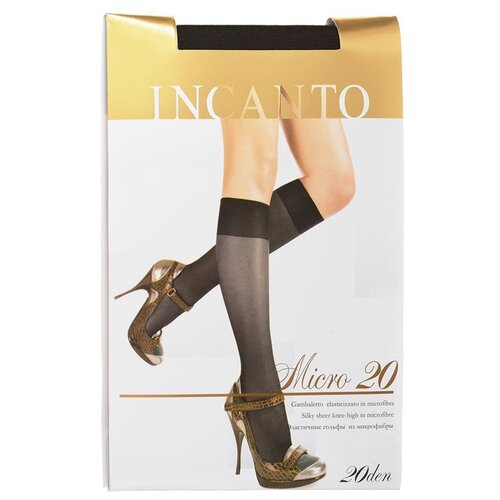 Капроновые гольфы Incanto Micro 20, размер UNI, nero