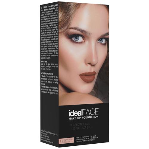 Ingrid Cosmetics Тональный крем Ideal Face, оттенок: 12 natural beige недорого