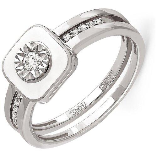 KABAROVSKY Кольцо с 11 бриллиантами из белого золота 11-1804-1010, размер 18