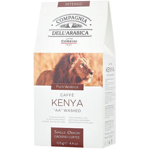 Фото - Кофе молотый Compagnia Dell` Arabica Kenya AA Washed, 125 г кофе молотый compagnia dell arabica brasil santos 125 г