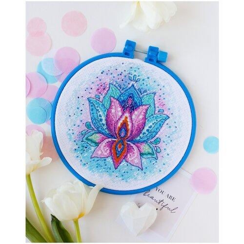 Купить Набор для вышивания мулине АБРИС АРТ AHM-046 Цветок Счастья 15х15 см, ABRIS ART, Наборы для вышивания