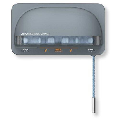 Фото - Ультрафиолетовый держатель-стерилизатор для зубных щеток Oclean S1, серый стерилизатор timson то 01 278 ультрафиолетовый для бритвенных станков