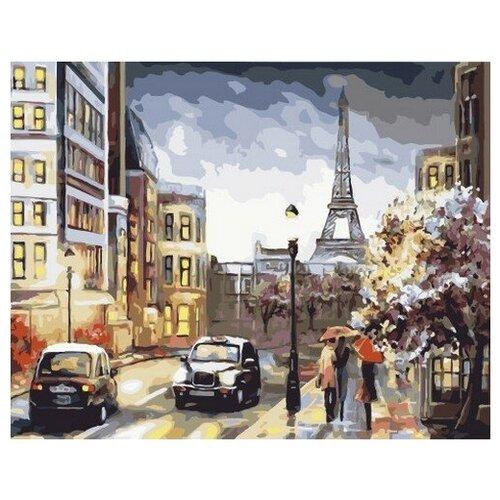 Купить Картина по номерам Парижская вечерняя улица, 40x50 см. PaintBoy, Картины по номерам и контурам
