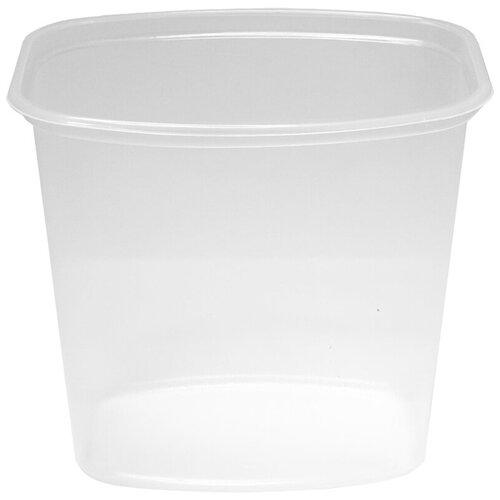 Контейнеры пищевые одноразовые Контейнеры одноразовые OfficeClean 1000мл, набор 100шт., без крышек, 138*102*128мм, ПП, прозрачные