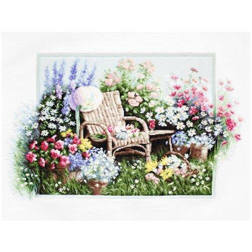 Фото - Luca-S Набор для вышивания Цветущий сад 28 x 43 см (B2344 ) bu4022 набор для вышивания хижина в лесу 43 5 40см luca s