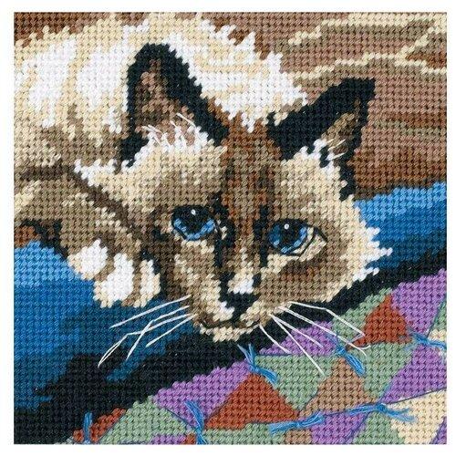 Dimensions Набор для вышивания Гобелен Cuddly Cat (Привлекательный кот) 13 х 13 см (07228)