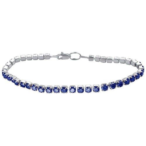Эстет Браслет с 42 шпинелью из серебра 01Б251062-1, 20 см, 5 г радуга браслет t 26139 brasl r 20 см 5 66 г