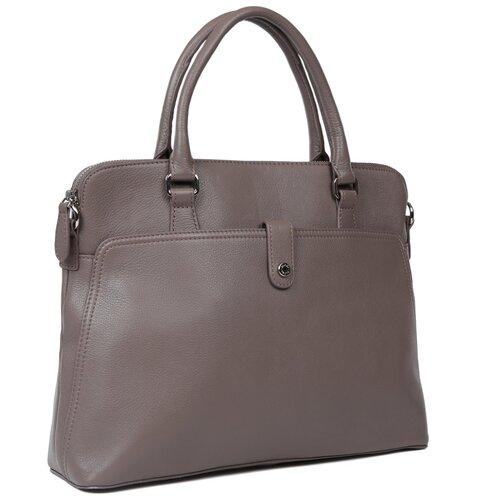 Женская кожаная сумка-портфель Palio 16271A-025 grey