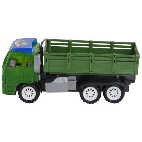 Машинка Грузовик военный, военная техника, самосвал, спецтехника, подвижные элементы, кузов машинка спецтехника инерция подвижные элементы в пакете 14 5 7 25 5 см
