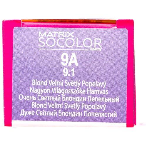 Matrix Socolor Beauty стойкая крем-краска для волос, 9A очень светлый блондин пепельный, 90 мл wellaton стойкая крем краска для волос 12 0 светлый натуральный блондин