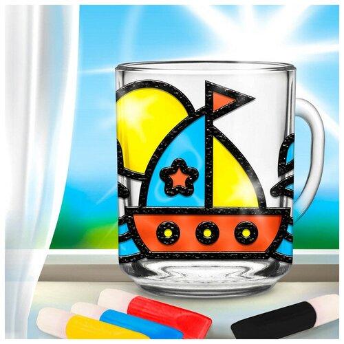 Купить Роспись кружки витражными красками Кораблик 3511895, Школа талантов, Роспись предметов