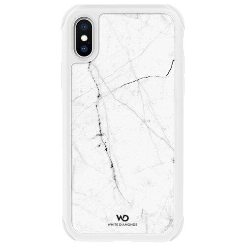 Чехол Tough Marble Case для iPhone XS, белый, 1370TMC47, White Diamonds