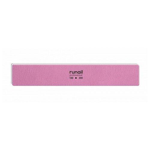 Купить RuNail, пилка для ногтей (розовая, прямая, 180/200), Runail Professional