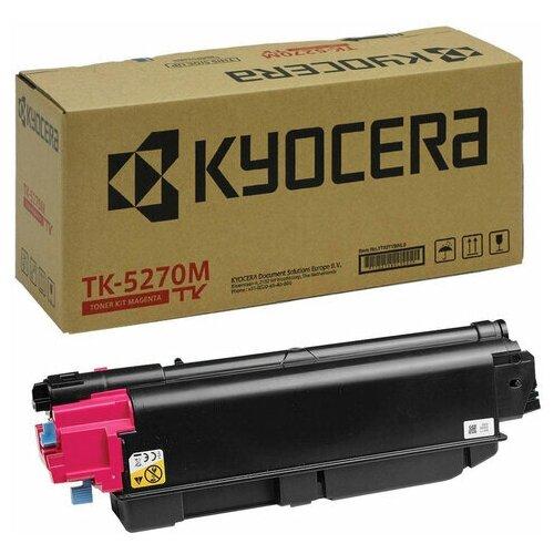 Фото - Тонер-картридж KYOCERA (TK-5270M) M6230cidn/M6630cidn/P6230cdn, пурпурный, оригинальный, ресурс 6000 страниц, 1T02TVBNL0, 1 шт. тонер картридж integral tk 5270y для kyocera m6230cidn m6630cidn p6230cdn желтый 6000 страниц