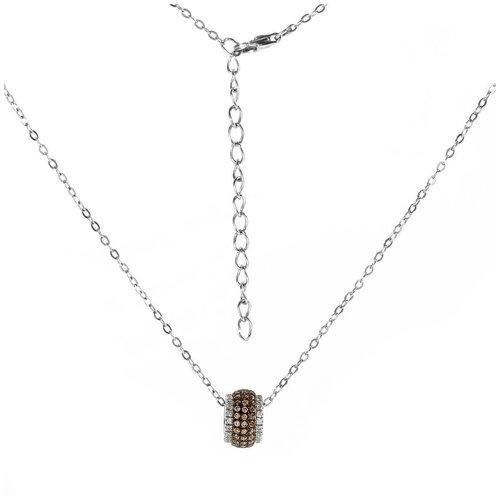 Balex Колье 9418910215 из серебра 925 пробы с фианитом, 40 см, 2.97 г