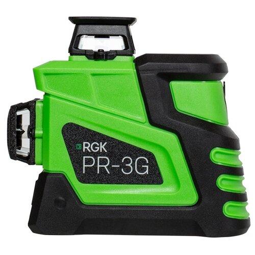 Фото - Лазерный уровень RGK PR-3G - зеленый луч 3D 360 градусов лазерный нивелир rgk pr 110