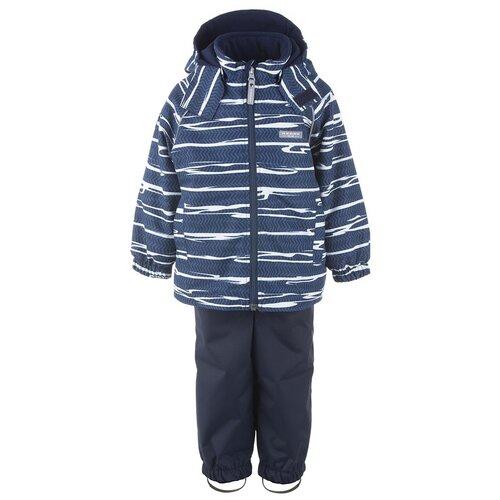 Купить Комплект для мальчиков WAVER K21012-2992, Kerry, Размер 98, Цвет 2992-темно-синий с полосками, Комплекты верхней одежды