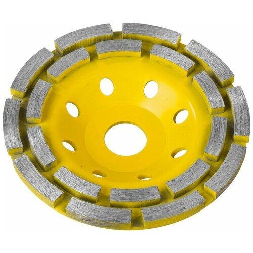 Фото - Double STAYER чашка алмазная шлифовальная сегментная двухрядная 125 мм чашка алмазная шлифовальная vira 125х22 2мм 2 ряда