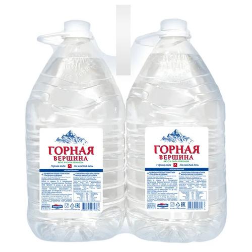 Вода питьевая минеральная Горная вершина 2 шт по 5л вода питьевая горная вершина негазированная 1 5 л