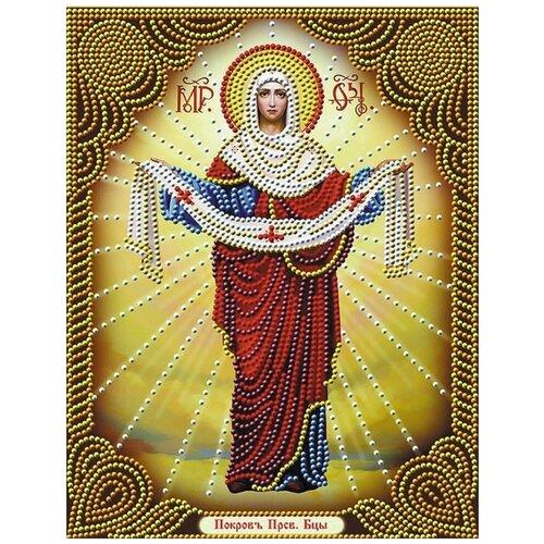 Купить Покров Пресвятой Богородицы алмазная мозаика 40х50, Алмазная живопись, Алмазная вышивка
