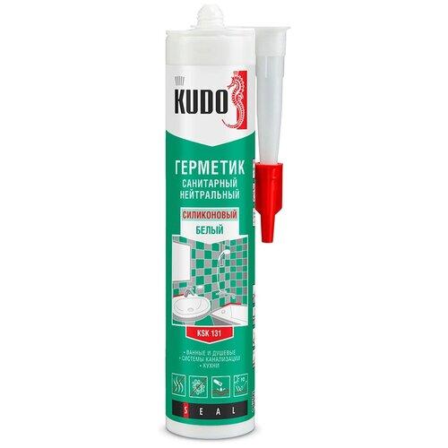 Фото - Герметик силикон. KSK-130 нейтральный санитарный прозрачн. 280 МЛ (12) KUDO герметик силиконовый kudo ksk 121 санитарный белый 280 мл