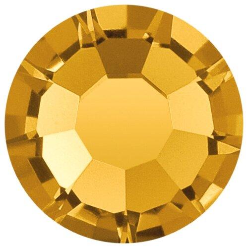 Купить Стразы клеевые PRECIOSA 3, 2 мм, стекло, 144 шт, желтые, 10070 (438-11-615 i), Фурнитура для украшений