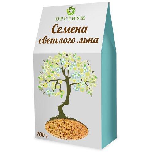 Семена льна Оргтиум белые экологические, 200 г микс семян льна оргтиум 200 г