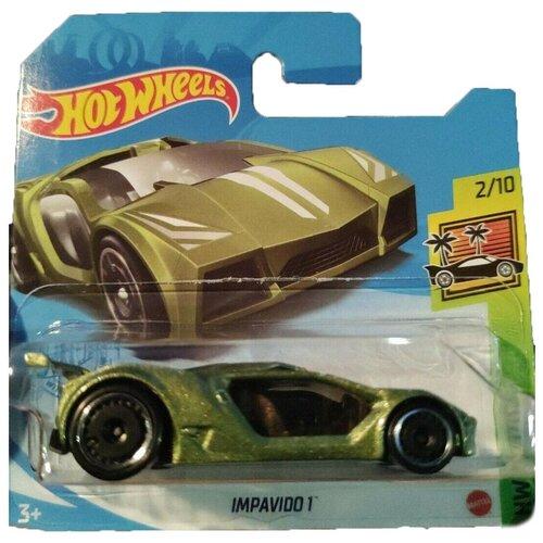 Hot Wheels Базовая машинка Impavido 1, зеленая mattel базовая машинка hot wheels tesla model 3
