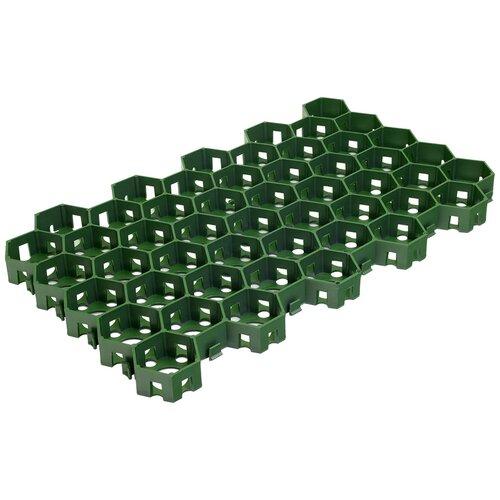 Решетка газонная VORTEX 25012 55 х 34 см, зеленый фиксатор для ковров vortex 22 22 мм