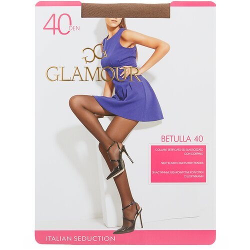 Колготки Glamour Betulla, 40 den, размер 5-XL, daino (коричневый) брюки sela размер 146 коричневый