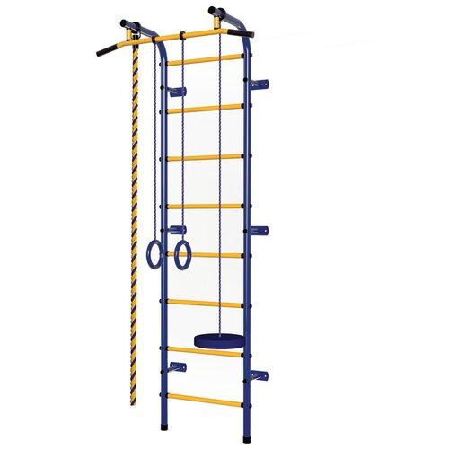 Шведская стенка Пионер С1РМ, синий/желтый