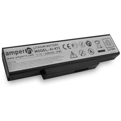 Аккумуляторная батарея Amperin для ноутбука Asus K Series 11.1v 4400mAh (49Wh) AI-K72