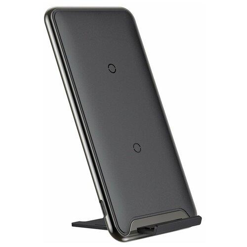 Фото - Беспроводная сетевая зарядка Baseus Three-coil Wireless Charging Pad, черный беспроводная сетевая зарядка baseus whirlwind desktop wireless charger черный