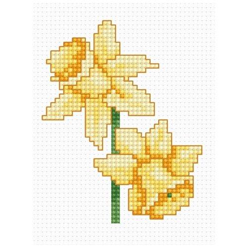 Купить Набор для вышивания «Нарциссы», 7, 5x9 см, Luca-S, Наборы для вышивания