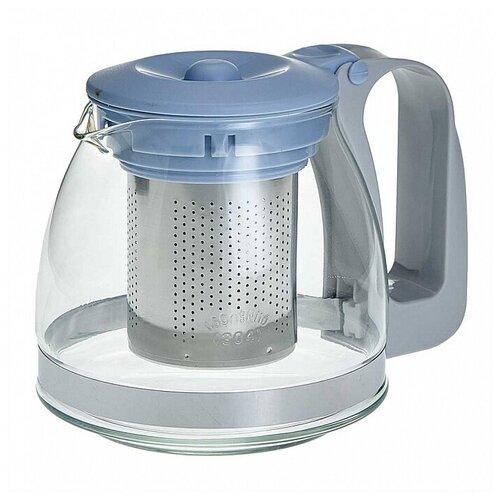 ALPENKOK Заварочный чайник 700 мл с фильтром из нержавеющей стали AK-5529/4 голубой