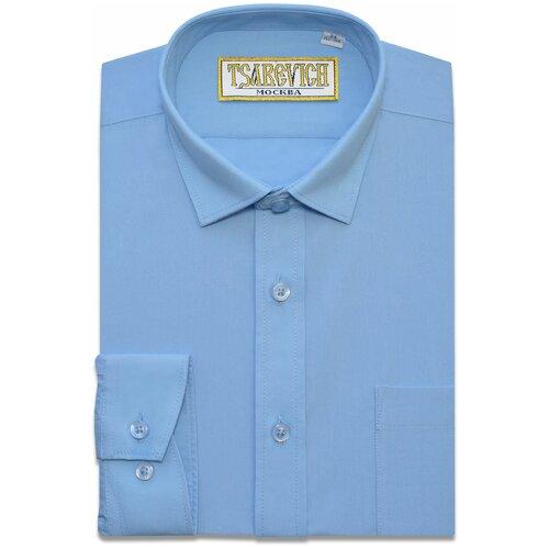 Рубашка Tsarevich размер 32/134-140, голубой
