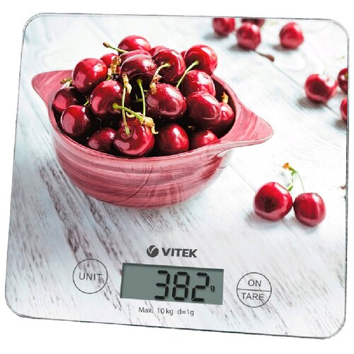 Кухонные весы VITEK VT-8002 серый/красный