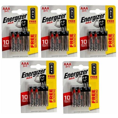 Фото - Батарейки AAA LR03 ENERGIZER MAX 20 шт батарейка aaa lr03 energizer max plus 16 шт