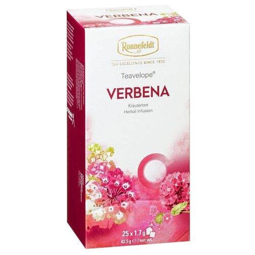 Чай травяной Ronnefeldt Teavelope Verbena в пакетиках, 25 шт. чай зеленый ronnefeldt teavelope classic green в пакетиках 25 шт